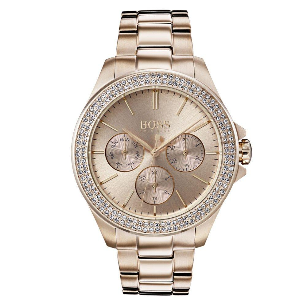 Hugo Boss Premiere Rose Gold Plated Chronograph Ladies Watch