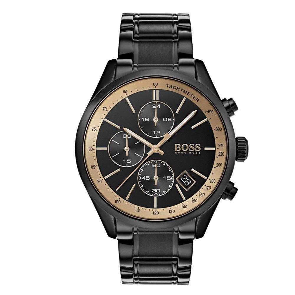 Hugo Boss Grand Prix GQ Black Chronograph Men's Watch