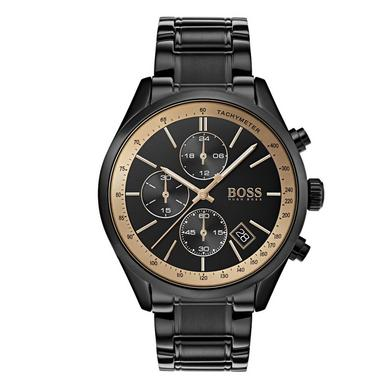 Hugo Boss Grand Prix GQ Black Chronograph Men's Watch