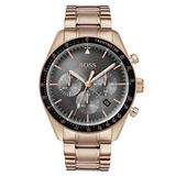 BOSS Trophy Rose Gold Plated Chronograph Men's Watch