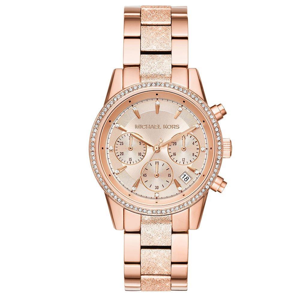 Michael Kors Ritz Rose Gold Tone Chronograph Ladies Watch