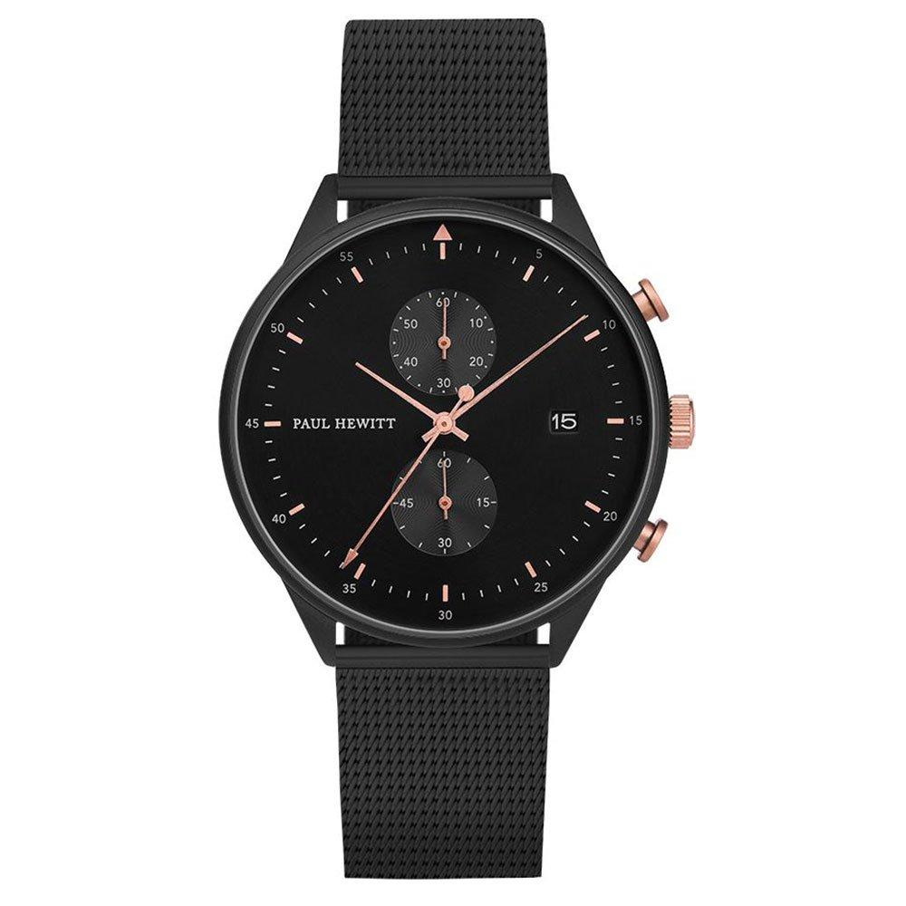 Paul Hewitt Black Ion Plated Mesh Chronograph Men's Watch