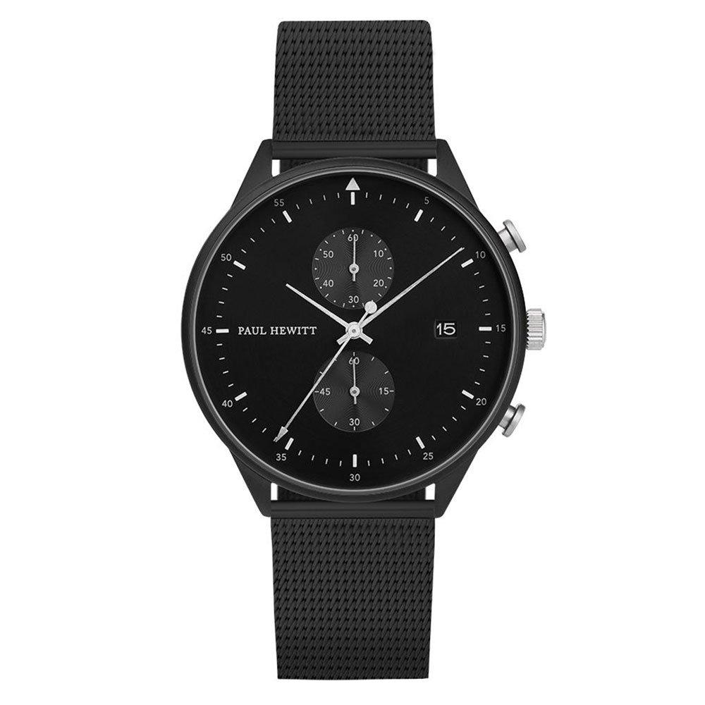 Paul Hewitt Black Ion Plated Chronograph Mesh Men's Watch