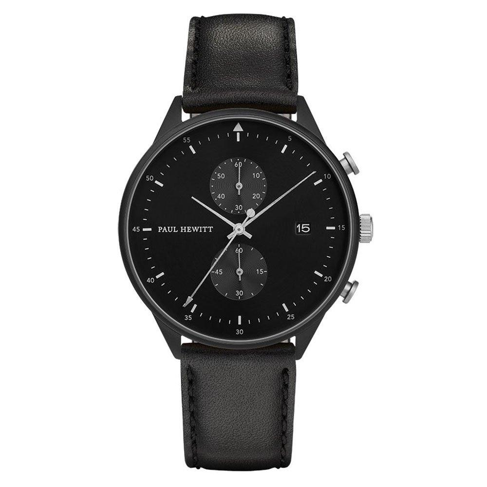 Paul Hewitt Black Ion Plated Chronograph Men's Watch