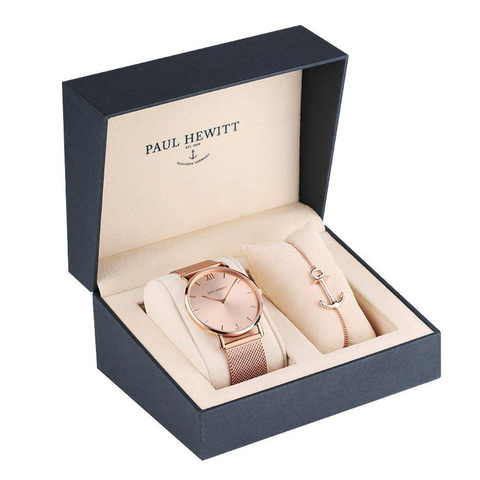 Paul Hewitt Sailor Rose Gold Ion Plated Ladies Watch and Bracelet Set