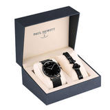 Paul Hewitt Sailor Black Ion Plated Men's Watch and Bracelet Set