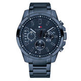 Tommy Hilfiger Decker Blue Ion Plated Chronograph Men's Watch
