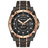 Bulova Precisionist Champlain Grey and Rose Tone Diamond Men's Watch