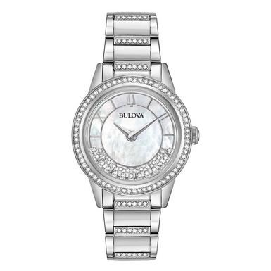 Bulova Crystal Turnstyle Ladies Watch