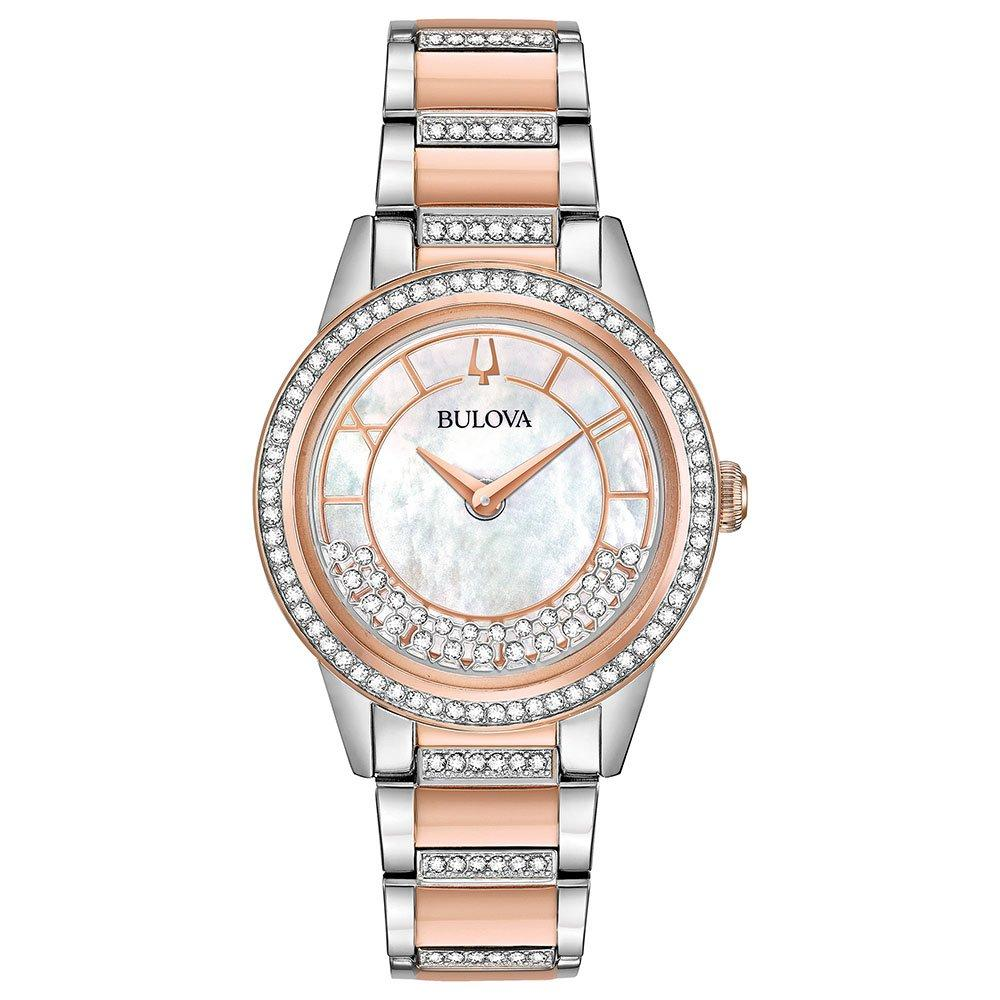 Bulova Crystal TurnstyleTwo Colour Ladies Watch