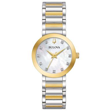 Bulova Modern Two Colour Diamond Ladies Watch