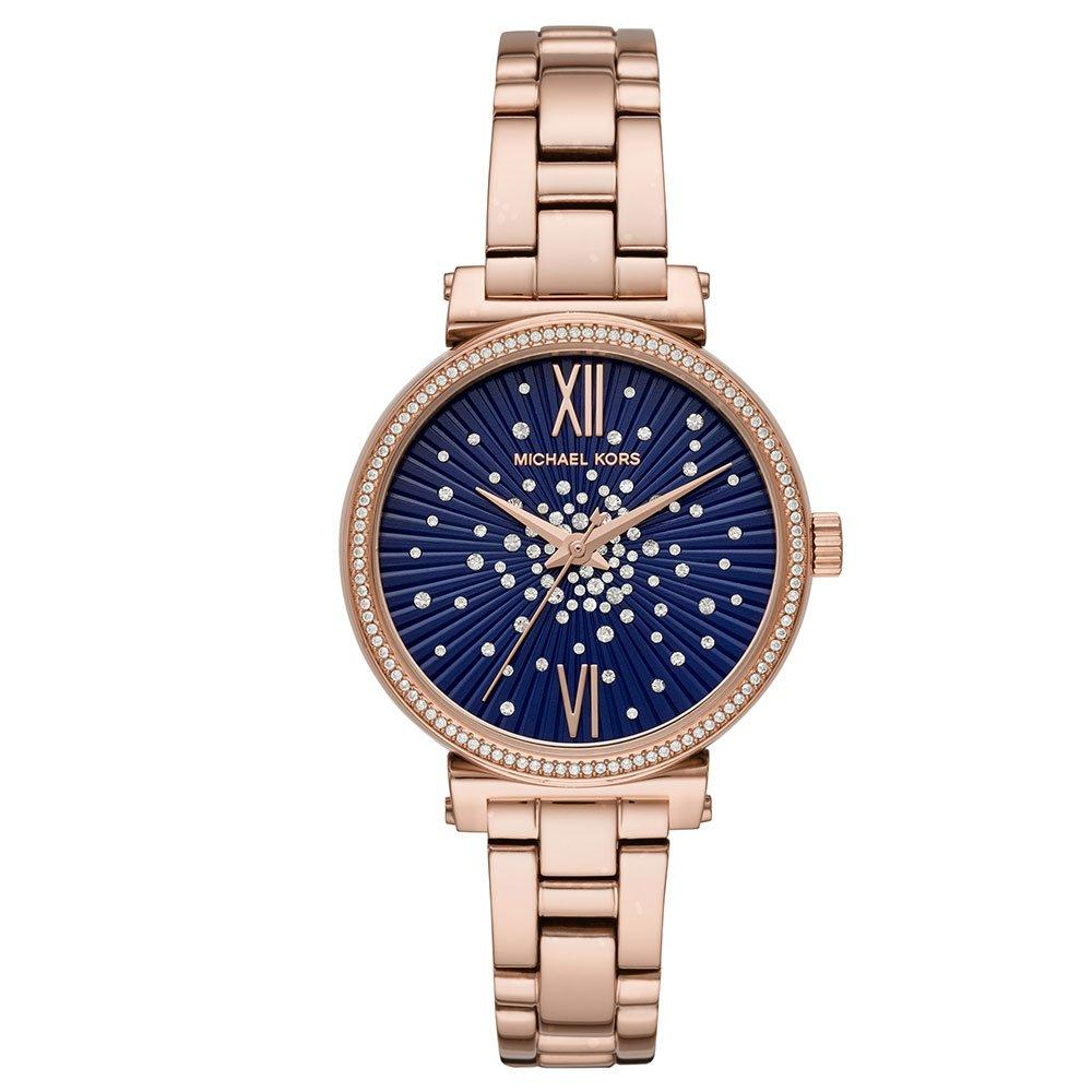 Michael Kors Mini Sofie Rose Gold Tone Crystal Ladies Watch