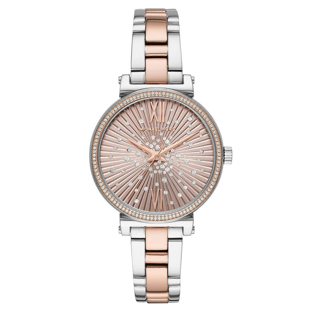 Michael Kors Mini Sofie Stainless Steel and Rose Gold Tone Crystal Ladies Watch