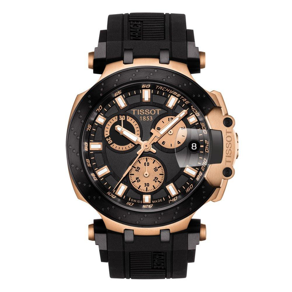 Tissot T-Race Black and PVD Rose Gold Plated Chronograph Men's Watch