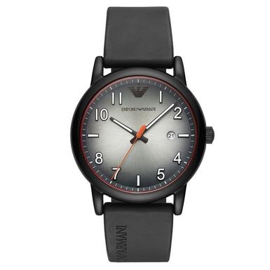 Emporio Armani Black Rubber Men's Watch