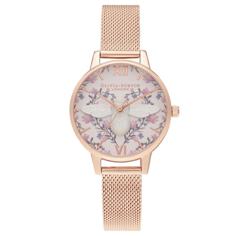 Olivia Burton Meant to Bee Rose Gold Ion Plated Mesh Ladies Watch
