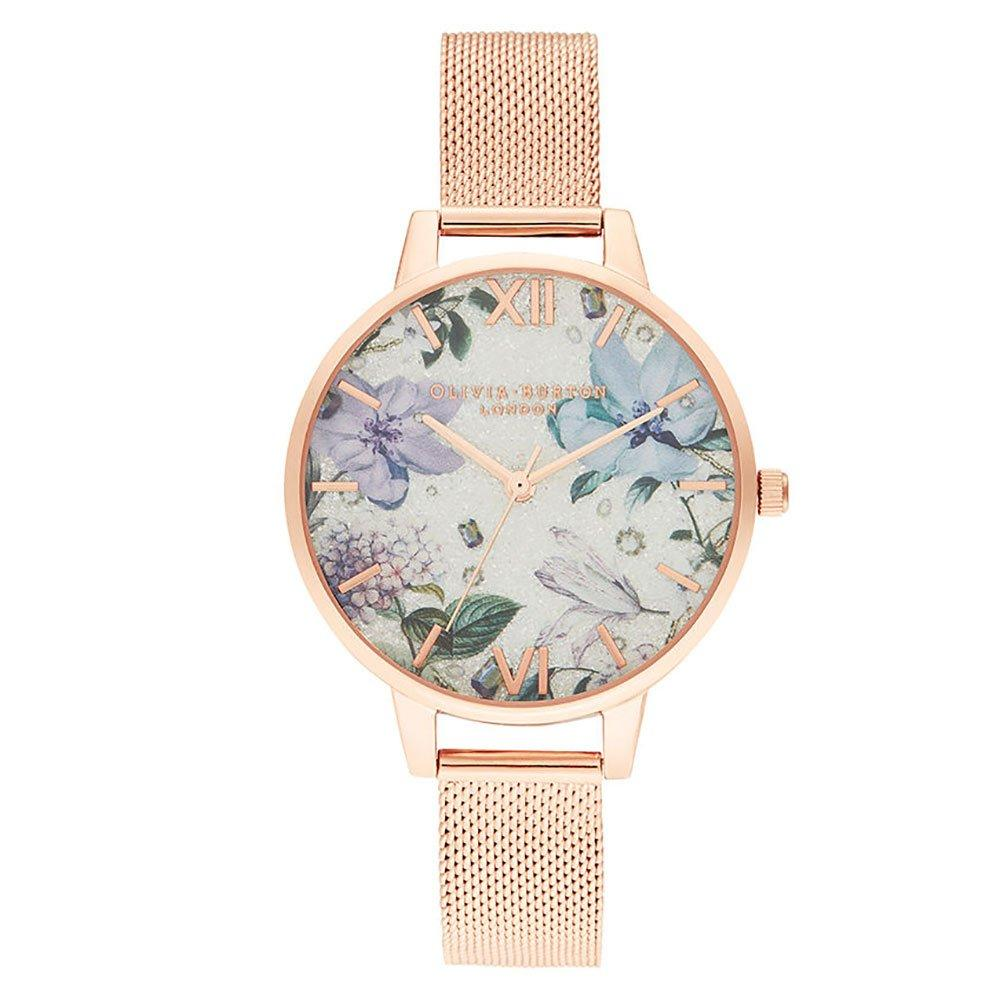 Olivia Burton Rose Gold Ion Plated Mesh Ladies Watch