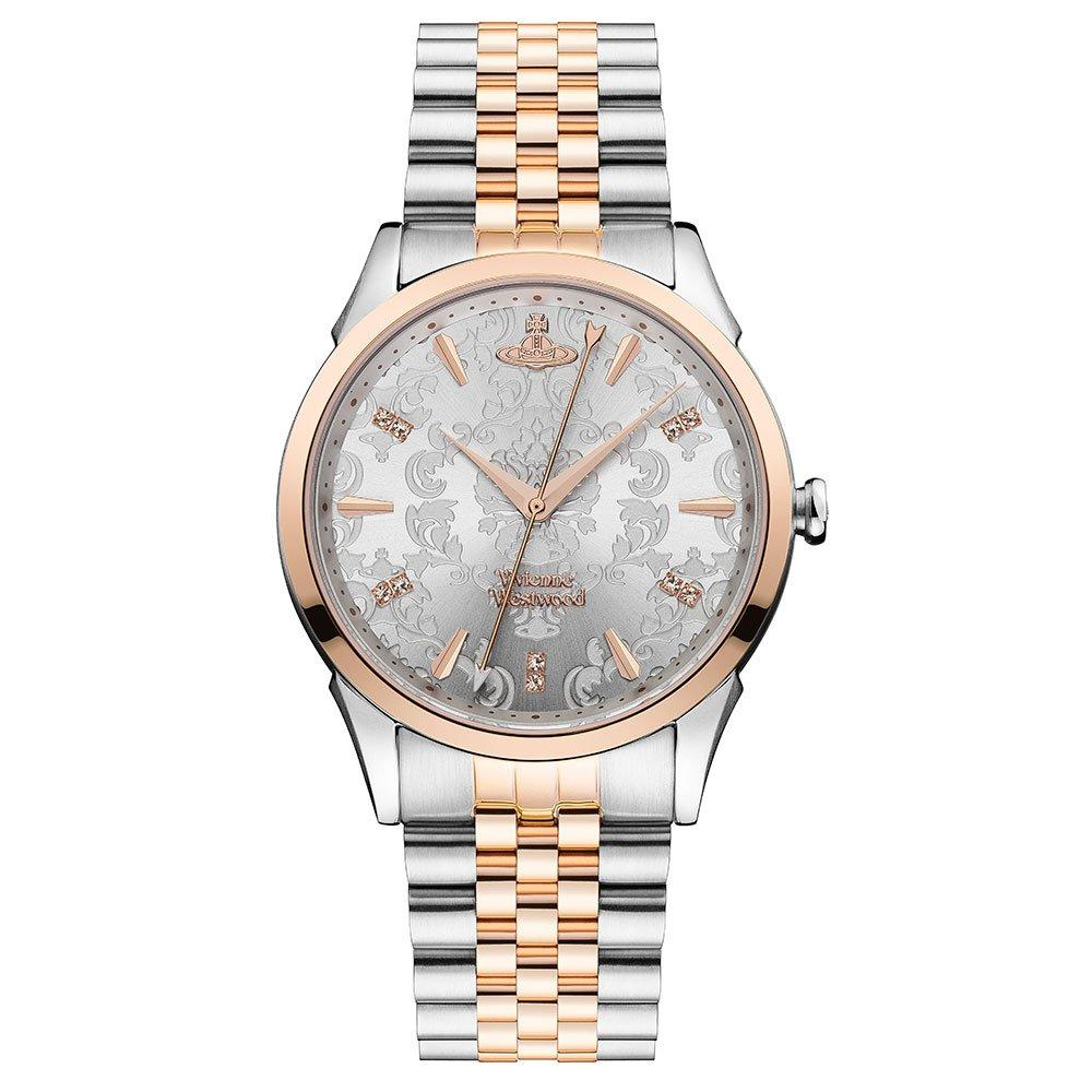 Vivienne Westwood Wallace Rose Gold Tone and Stainless Steel Ladies Watch