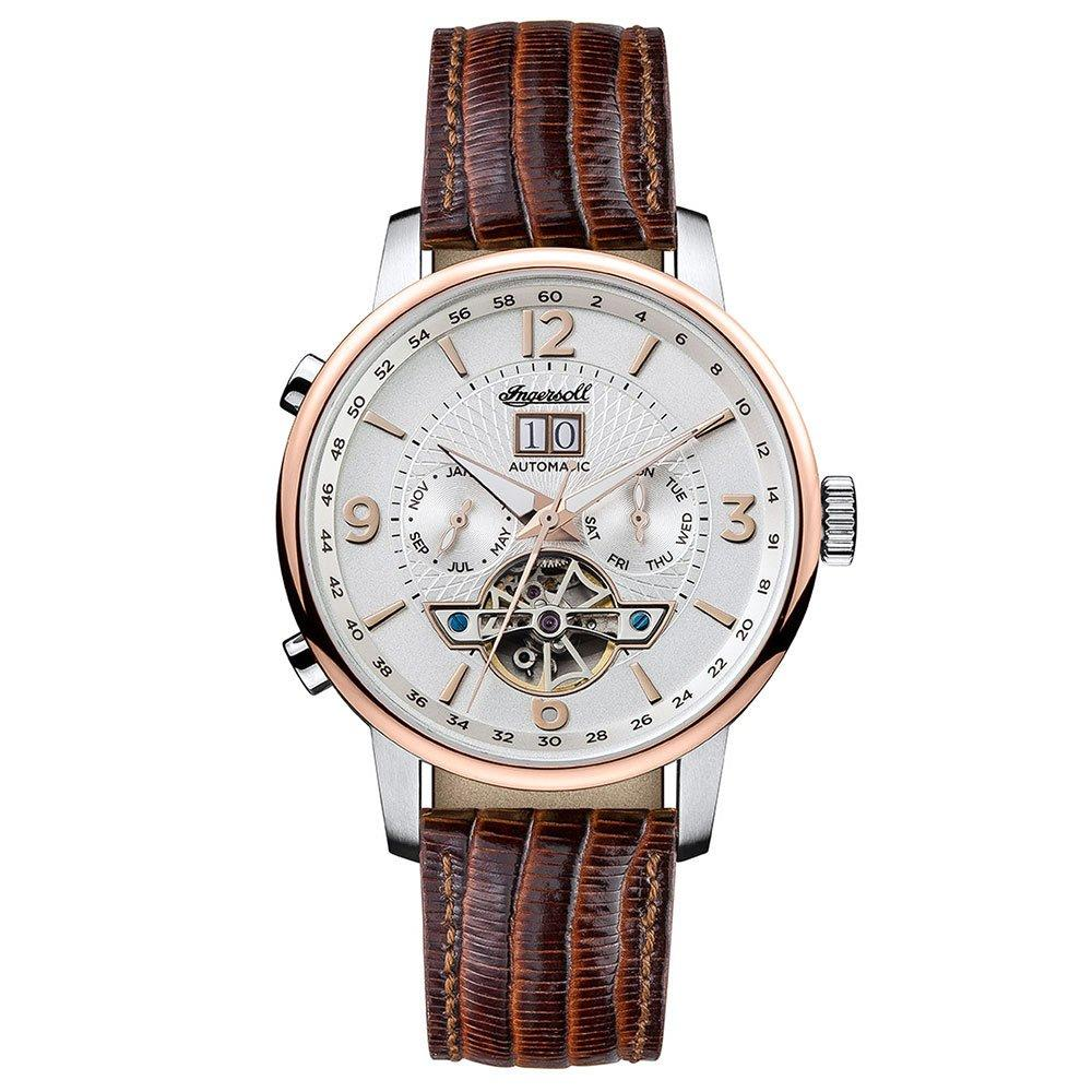 Ingersoll Grafton Stainless Steel and Rose Gold Plated Automatic Men's Watch