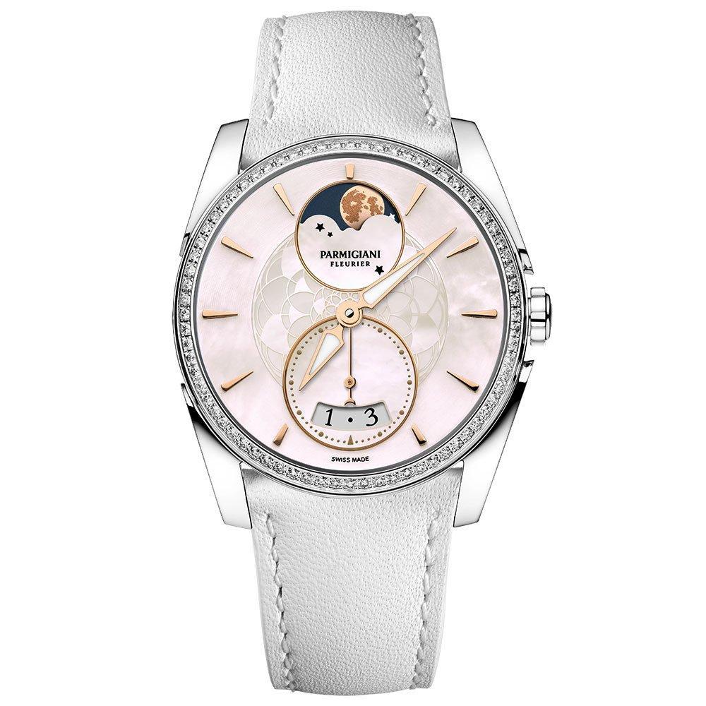 Parmigiani Tonda Metropolitaine Selene Diamond Moonphase Automatic Ladies Watch