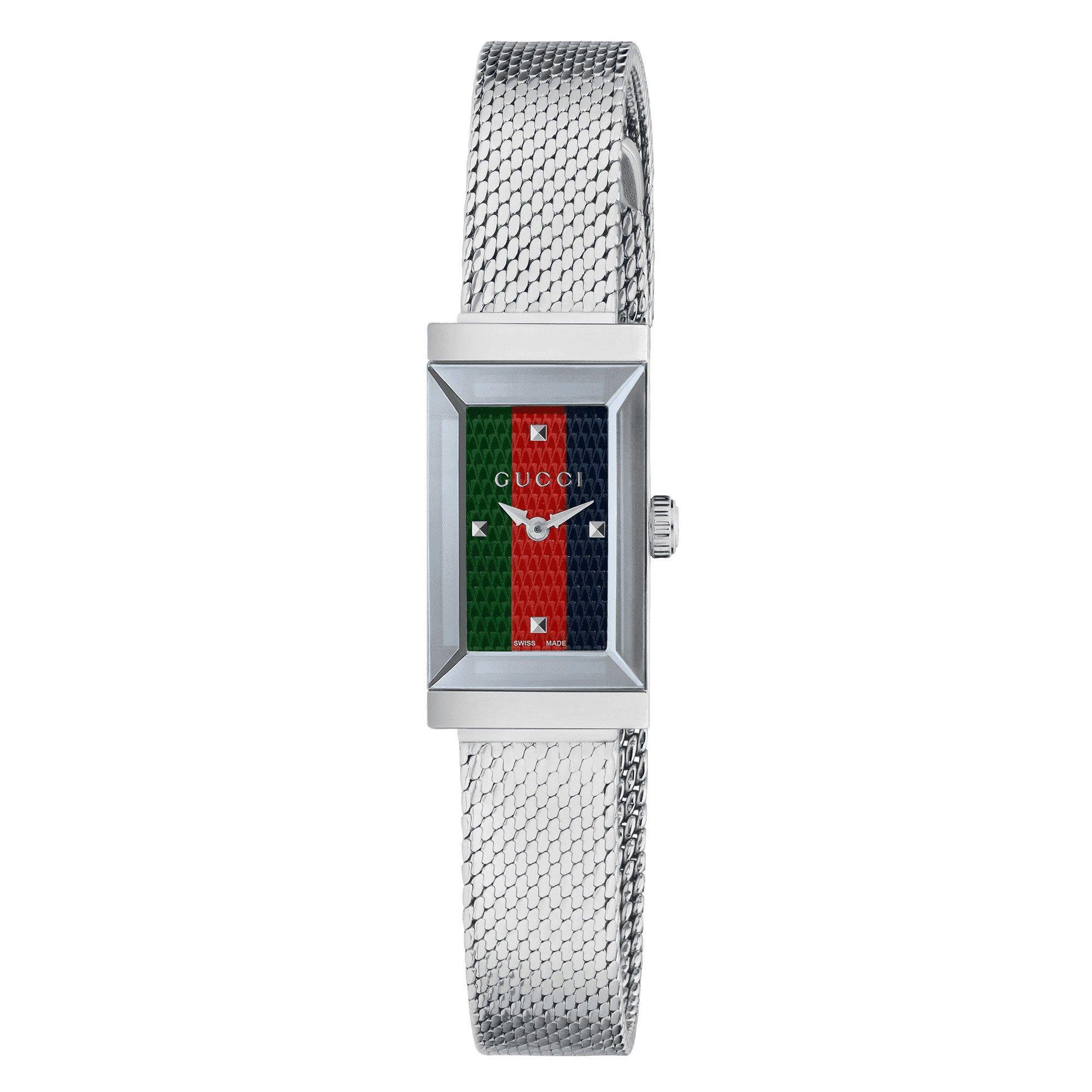 Gucci G-Frame Stripe Ladies Watch