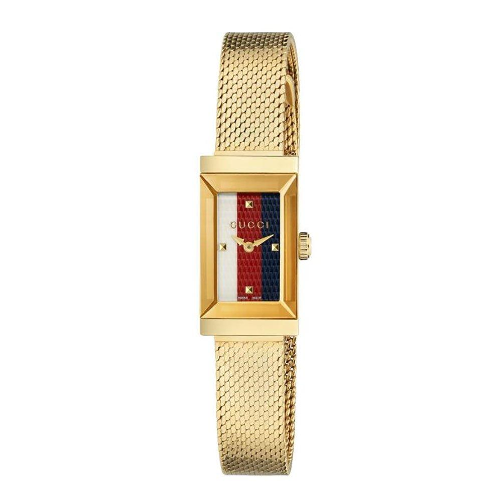Gucci G Frame Gold Tone Mesh Ladies Watch