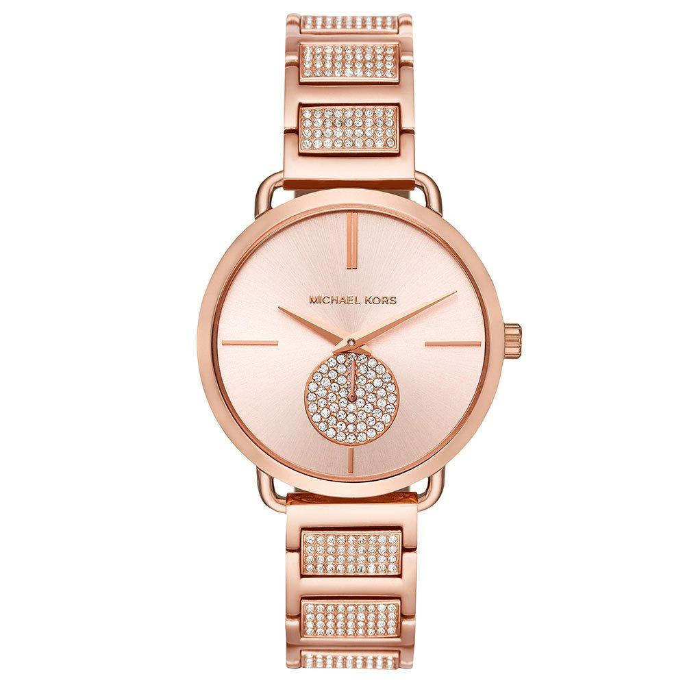 Michael Kors Portia Rose Gold Tone Ladies Watch