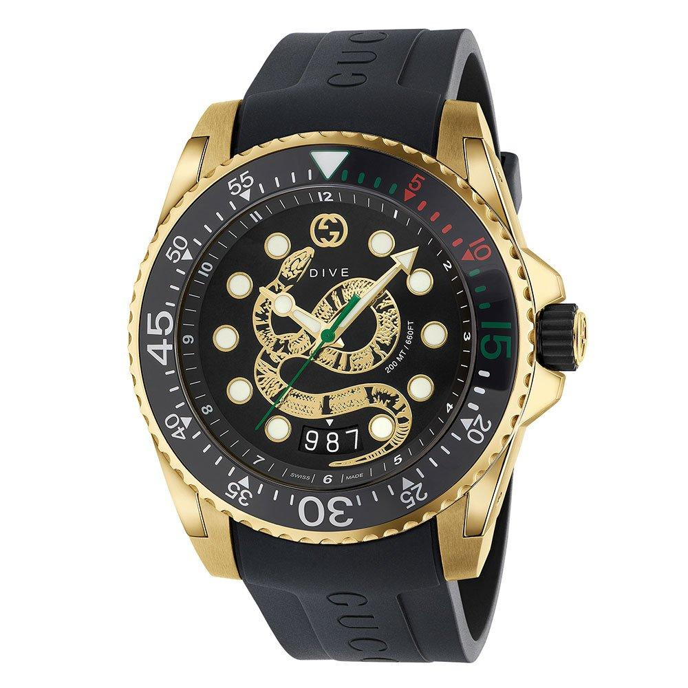 Gucci Dive Snake Gold PVD Men's Watch