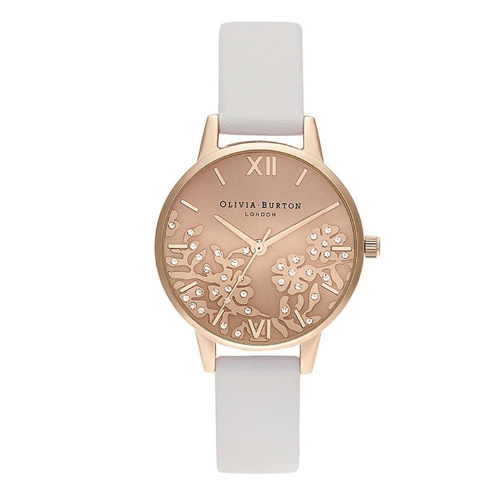 Olivia Burton Bejewelled Lace Rose Gold Tone Ladies Watch