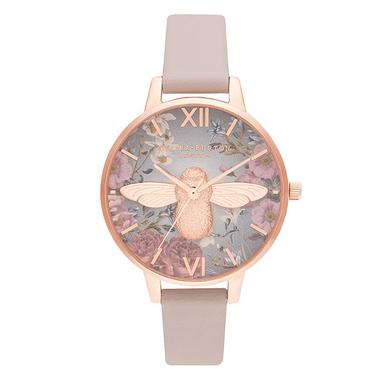 Olivia Burton British Blooms 3D Bee Rose Gold Tone Ladies Watch