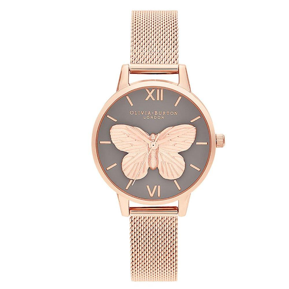Olivia Burton Rose Gold Tone 3D Butterfly Mesh Ladies Watch