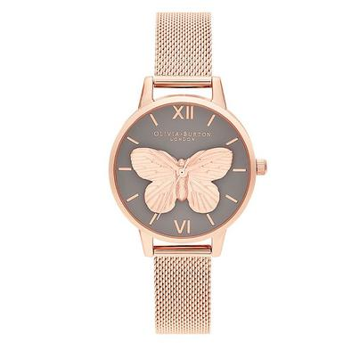 Olivia Burton 3D Butterfly Rose Gold Tone Ladies Watch