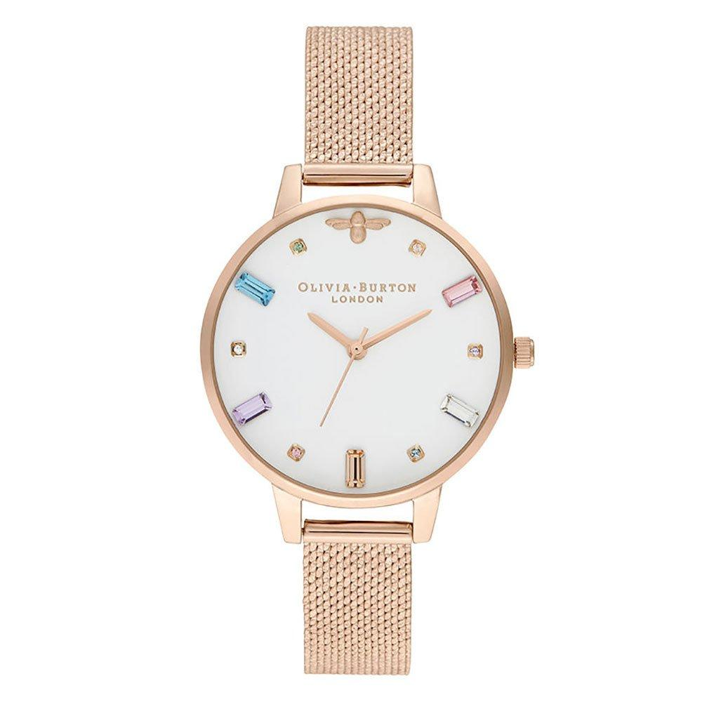 Olivia Burton Rainbow Bee Rose Gold Tone Ladies Watch