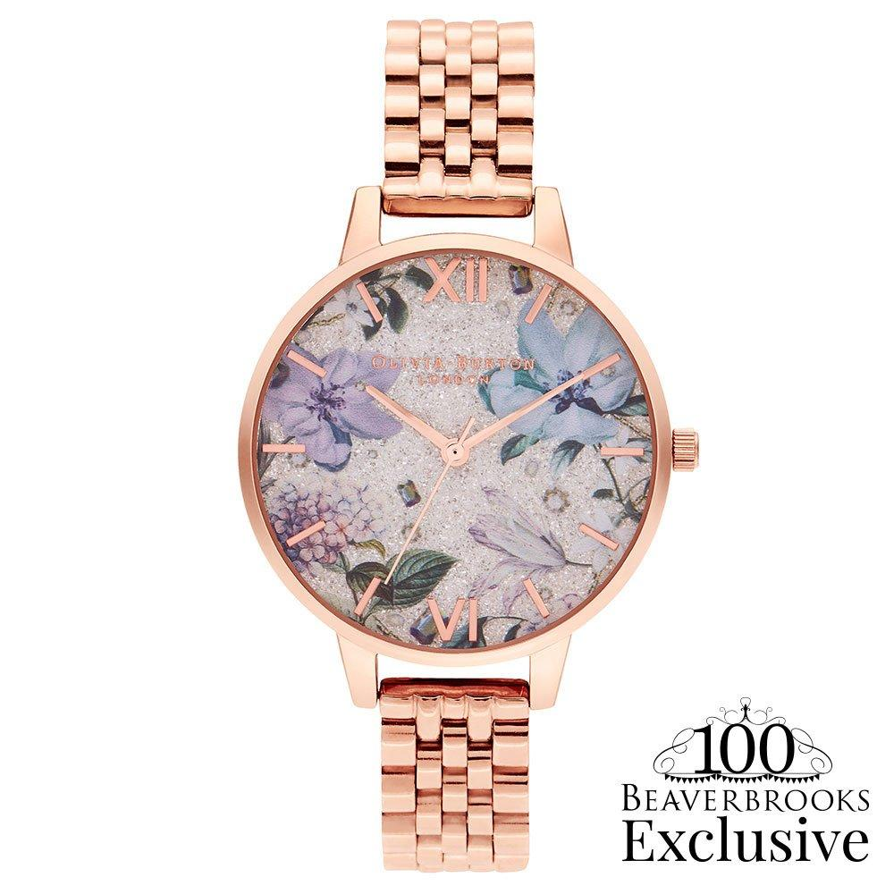 Olivia Burton Exclusive Bejewelled Florals Limited Edition Rose Gold Tone Ladies Watch