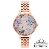 Olivia Burton Exclusive Bejewelled Rose Gold Tone Limited Edition Ladies Watch