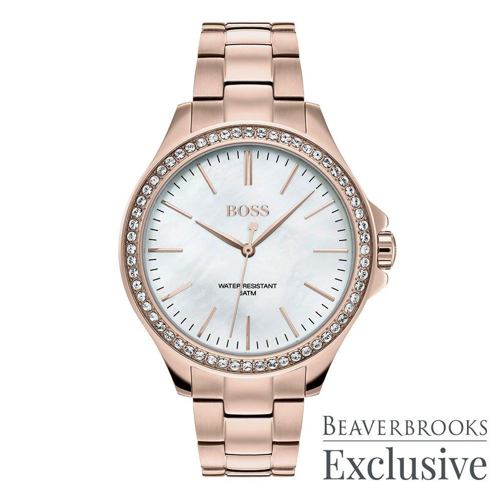 BOSS Exclusive Rose Gold Ion Plated Limited Edition Ladies Watch