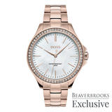 Hugo Boss Exclusive Rose Gold Ion Plated Limited Edition Ladies Watch