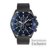 Hugo Boss Exclusive Gunmetal Ion Plated Mesh Chronograph Men's Watch