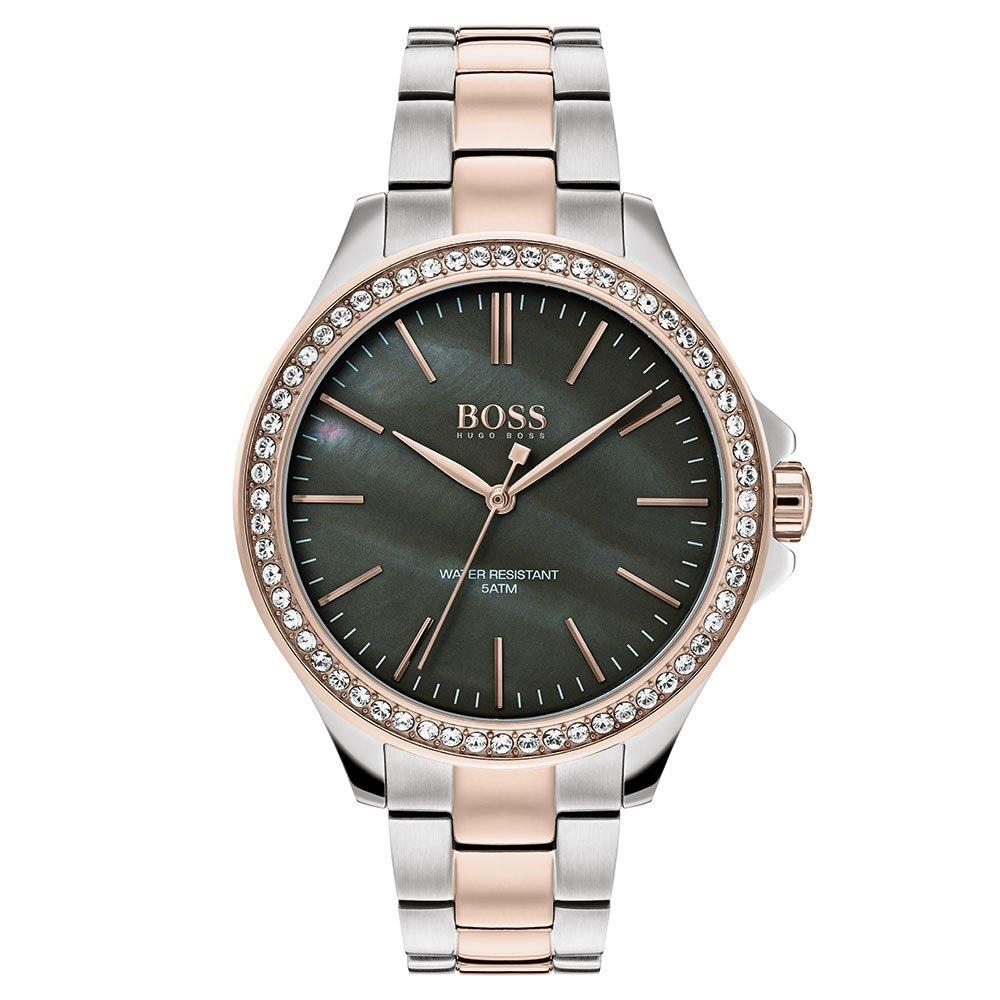 Hugo Boss Victoria Rose Gold Tone and Stainless Steel Ladies Watch