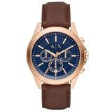 Armani Exchange Rose Gold Tone Chronograph Men's Watch