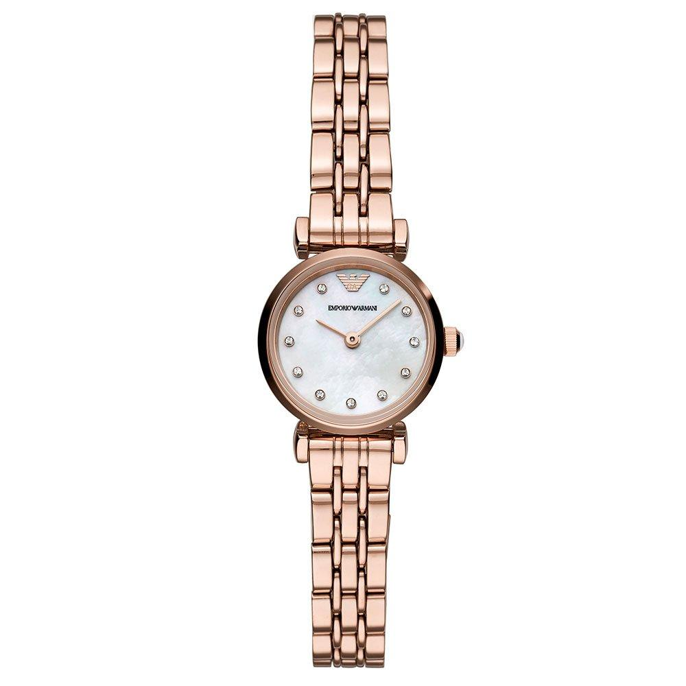 Emporio Armani Rose Gold Tone T-Bar Ladies Watch