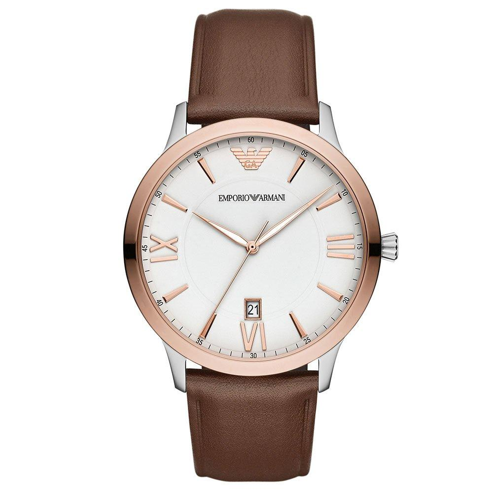 Emporio Armani Steel and Rose Gold Tone Men's Watch