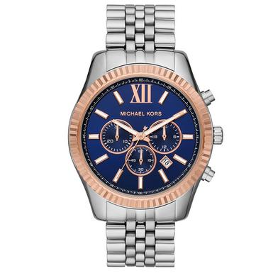 Michael Kors Lexington Steel and Rose Gold Chronograph Men's Watch