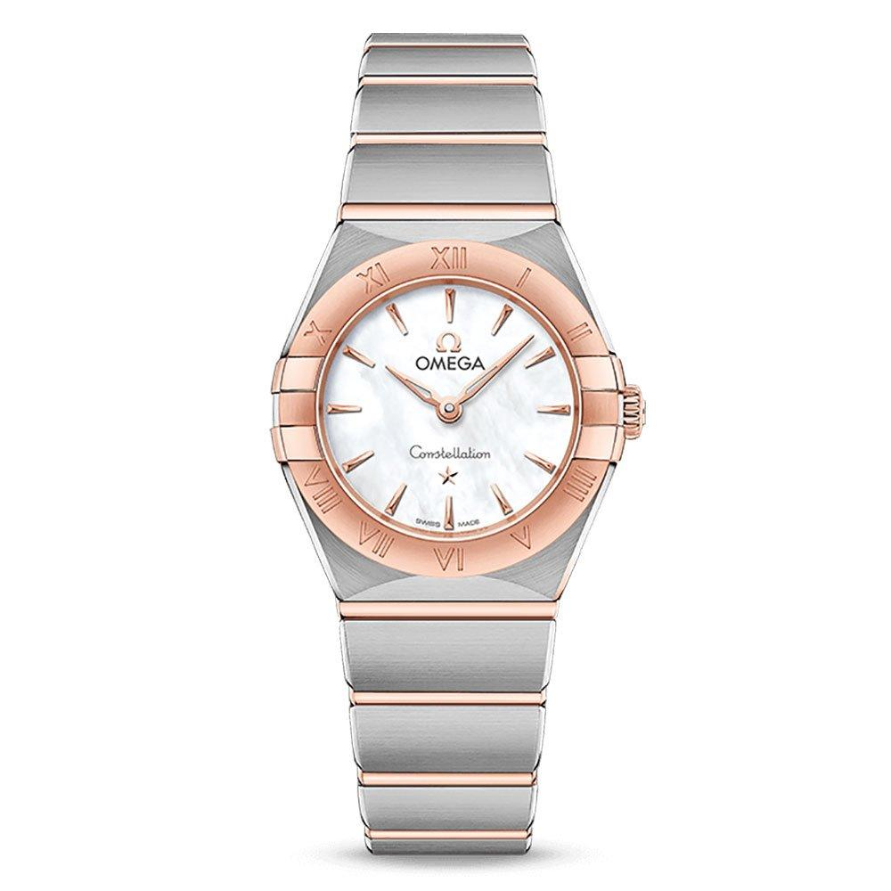 OMEGA Constellation Manhattan Steel and Rose Gold Plated Ladies Watch
