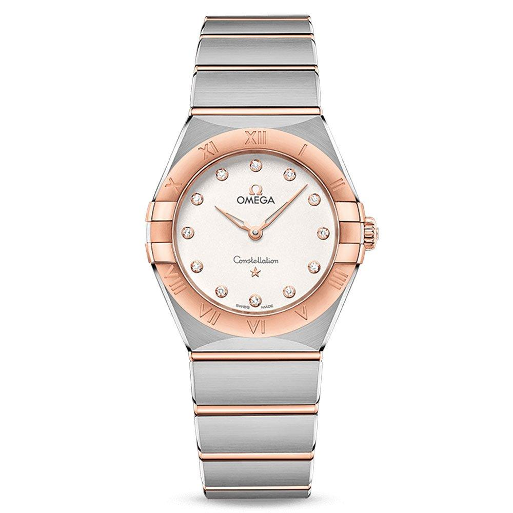OMEGA Constellation Manhattan 18ct Rose Gold Diamond Ladies Watch