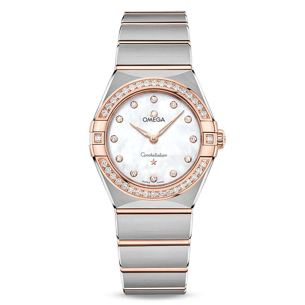 OMEGA Constellation Manhattan Steel and 18ct Sedna Gold Diamond Ladies Watch