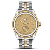 Tudor Glamour Double Date Stainless Steel and Gold Diamond Automatic Men's Watch