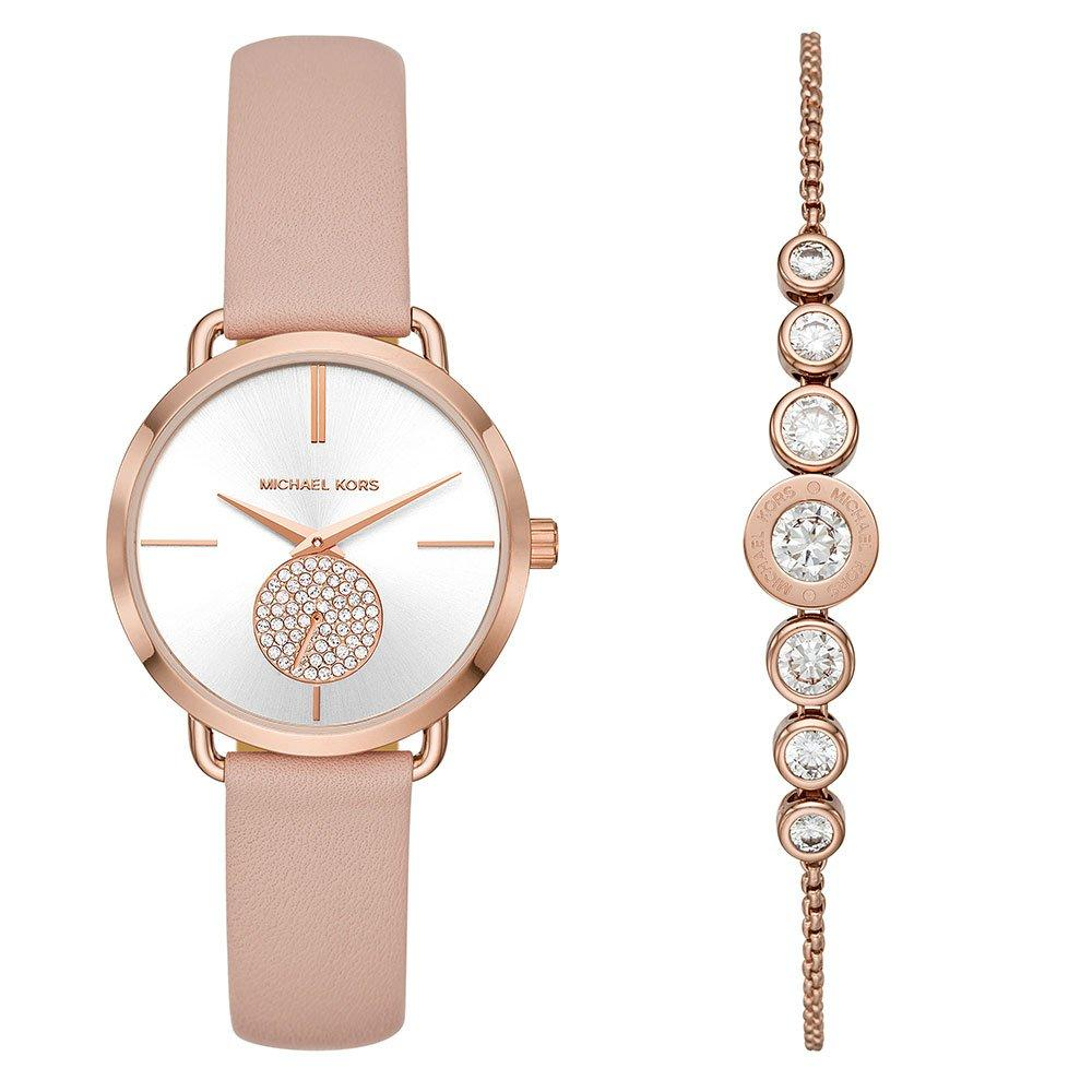 Michael Kors Portia Rose Gold Tone Watch and Bracelet Set