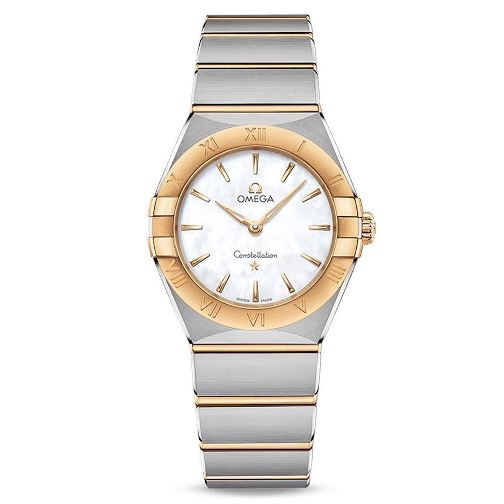 OMEGA Constellation Manhattan Steel and 18ct Gold Ladies Watch