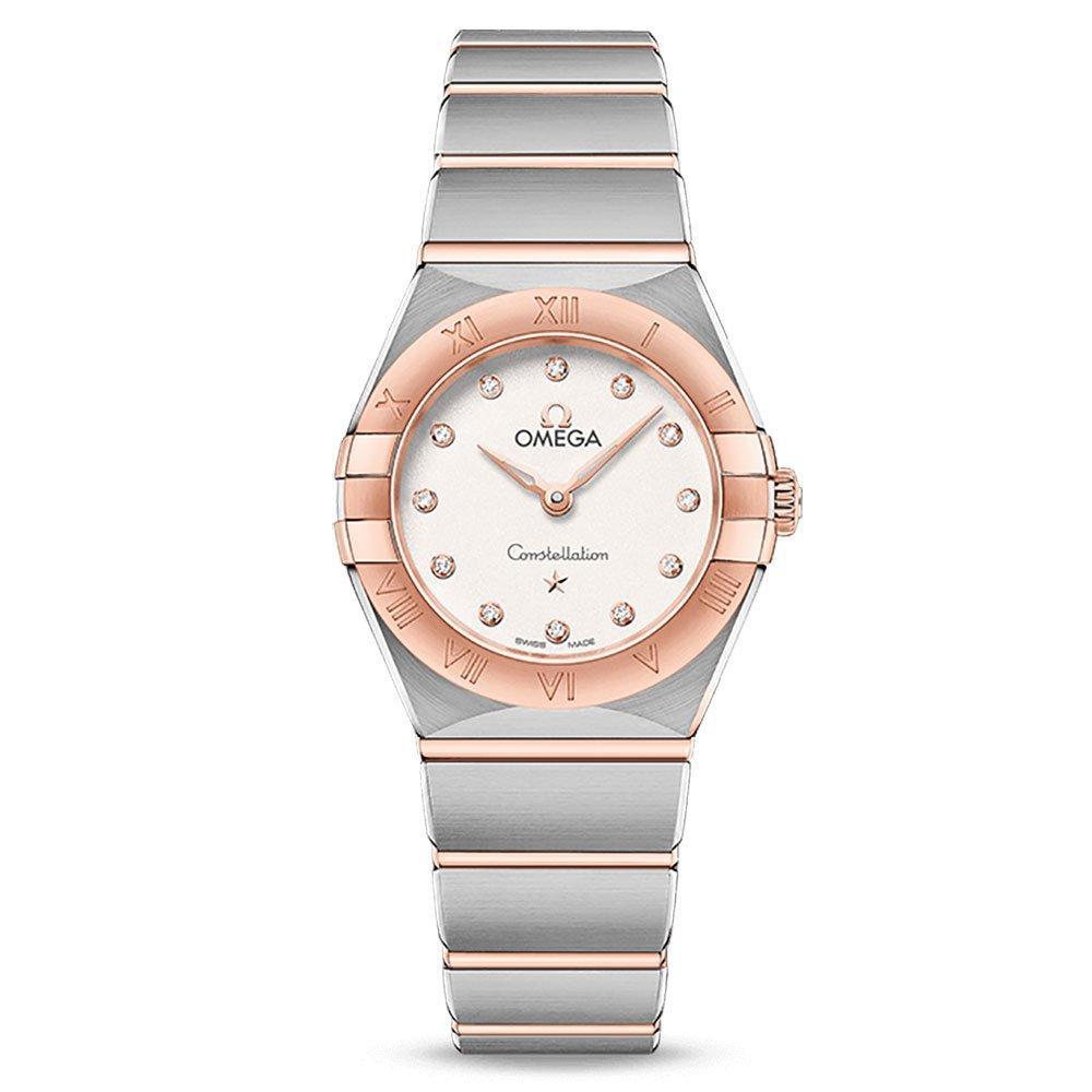 OMEGA Constallation Manhattan Steel and 18ct Sedna Gold Diamond Ladies Watch